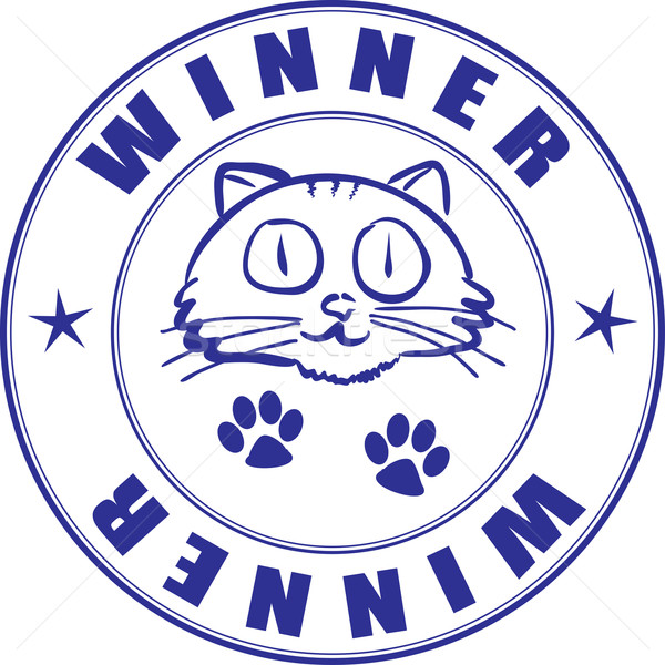 Round stamp on certificate - winner of pets competition Stock photo © pzaxe