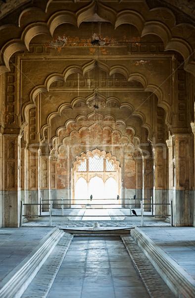 Arc intérieur Inde Delhi anciens bâtiment Photo stock © pzaxe