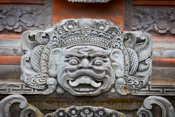 Portrait of a mythical character on the wall of the Indonesian t Stock photo © pzaxe
