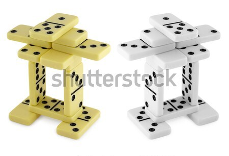 Bizarre construction of dominoes Stock photo © pzaxe