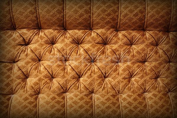 Zdjęcia stock: Brązowy · tapicerka · retro · vintage · tkaniny · tekstury