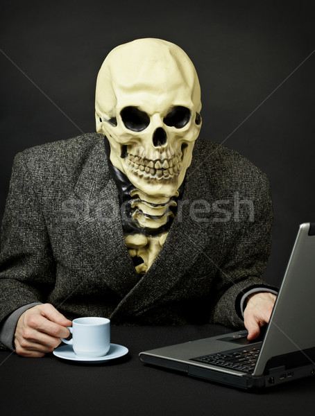 Death walks in Internet Stock photo © pzaxe