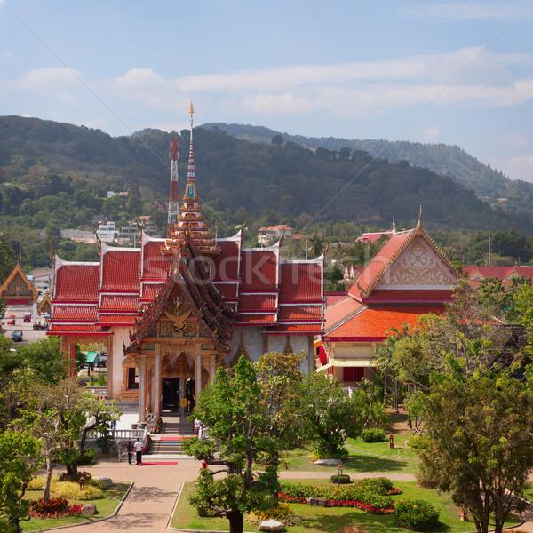 Budist tapınak phuket ada gökyüzü ağaç Stok fotoğraf © pzaxe