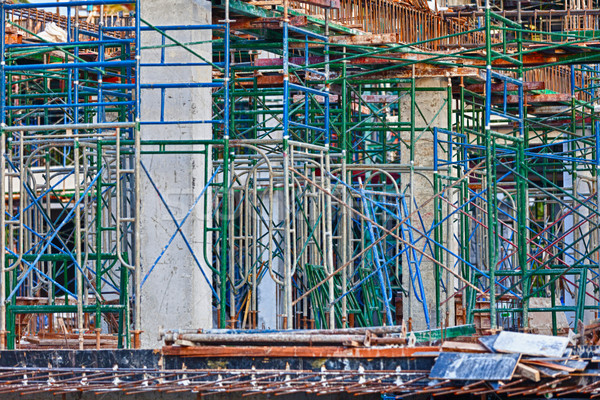 Inşaat beton binalar Bina şehir duvar Stok fotoğraf © pzaxe