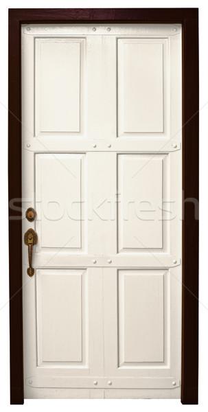 Door on white background Stock photo © pzaxe