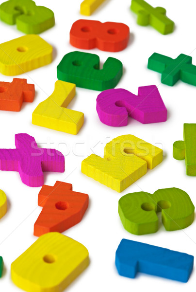 Color toy figures on white background Stock photo © pzaxe