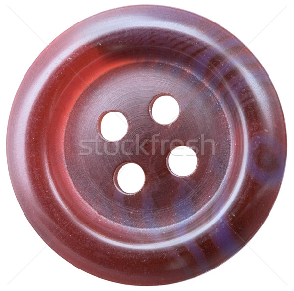 Brown plastic button Stock photo © pzaxe