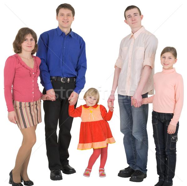 Aile adam kadın çocuk beyaz kız Stok fotoğraf © pzaxe