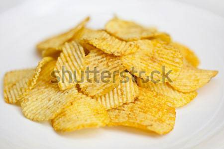 Batatas fritas isolado branco grupo pimenta rápido Foto stock © pzaxe