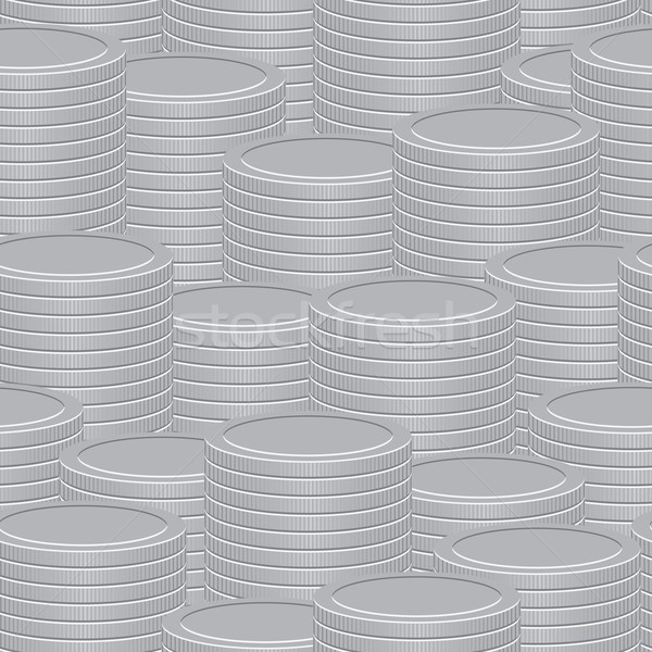 Abstract vector background - a stacks of coins Stock photo © pzaxe