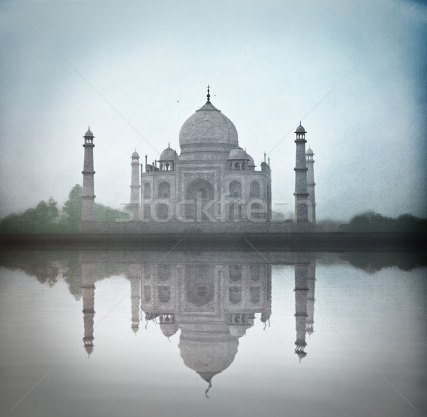 Tac Mahal tan sis su yansıma yüksek Stok fotoğraf © pzaxe