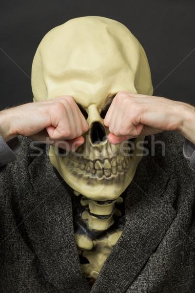 Pleurer mort sombre visage corps Palm Photo stock © pzaxe
