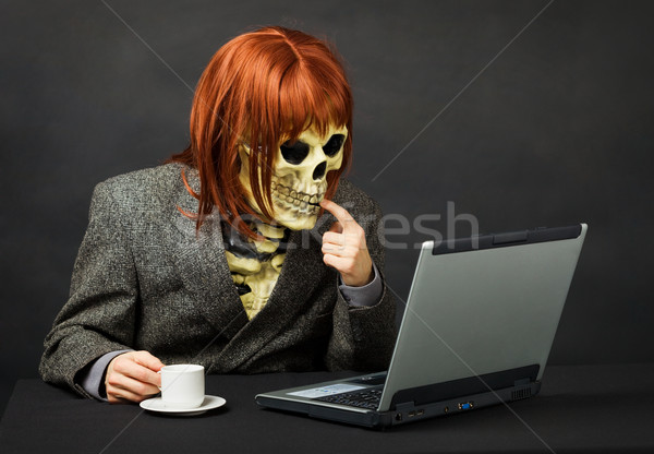 Terrible monster has got access to network Internet Stock photo © pzaxe
