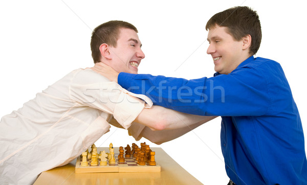 Wrestling boys ang chess Stock photo © pzaxe
