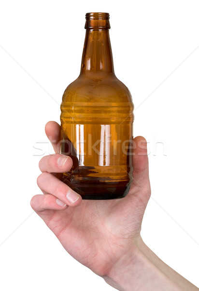 Bottle in hand Stock photo © pzaxe