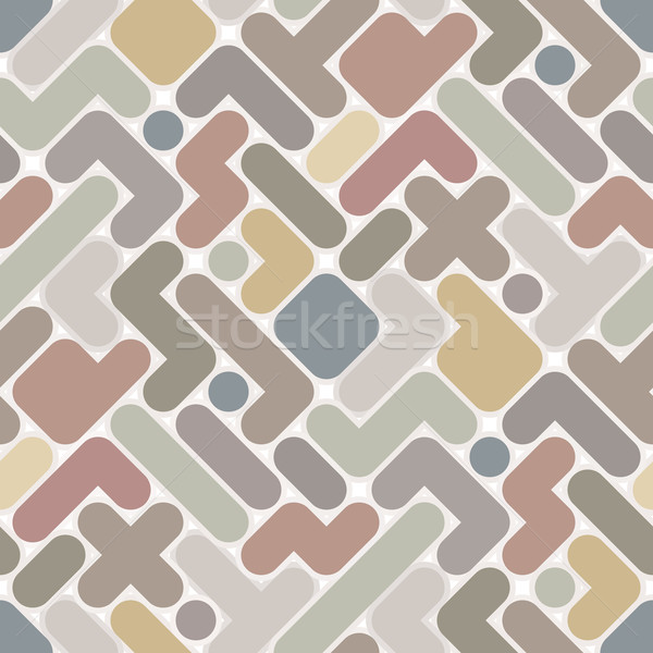 Vector abstract pattern - vintage seamless light color figured b Stock photo © pzaxe