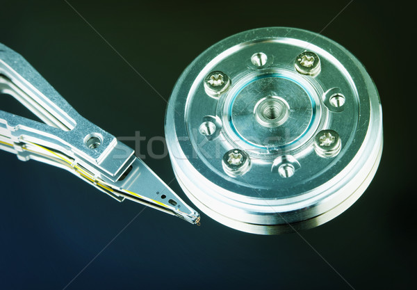 Manyetik kafa sabit disk bilgisayar siyah renk Stok fotoğraf © pzaxe