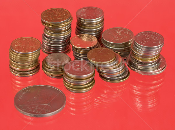 Rolls of the metal russian coins Stock photo © pzaxe