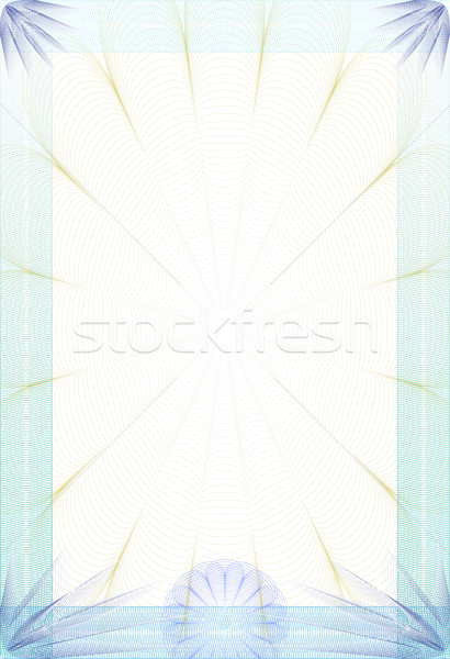 Guilloche style blanc - diploma or certificate Stock photo © pzaxe