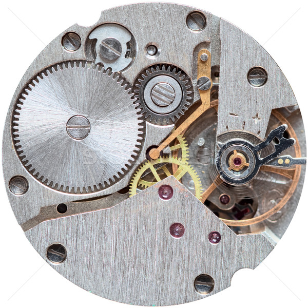 Old clockwork it is isolated on a white background Stock photo © pzaxe