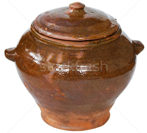 Brown ceramic pot Stock photo © pzaxe