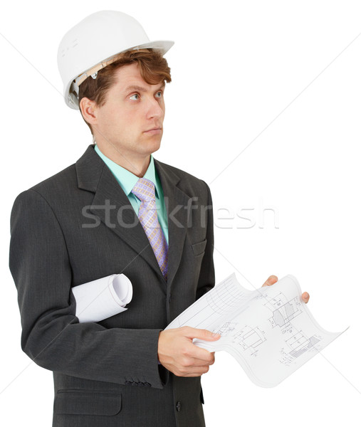 Serious builder thinks the project Stock photo © pzaxe