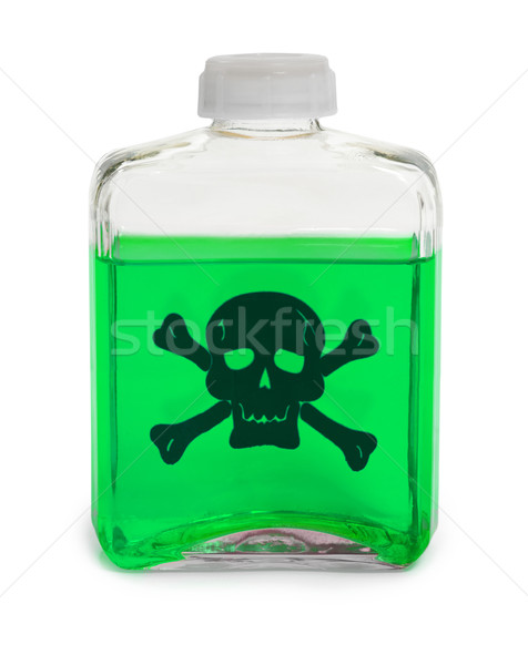 Bottle with green toxic chemical solution Stock photo © pzaxe