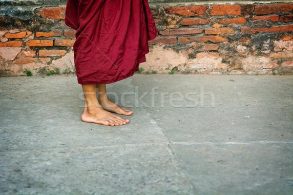 Legs of buddhist monk. Burma (Myanmar) Stock photo © pzaxe