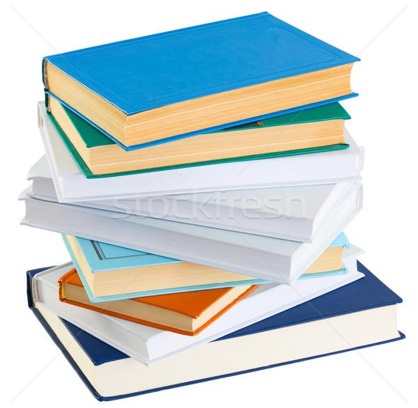 Köteg könyvek fehér öreg könyv zöld Stock fotó © pzaxe