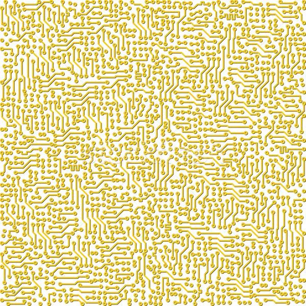 Electronic high - tech circuit board vector golden texture Stock photo © pzaxe