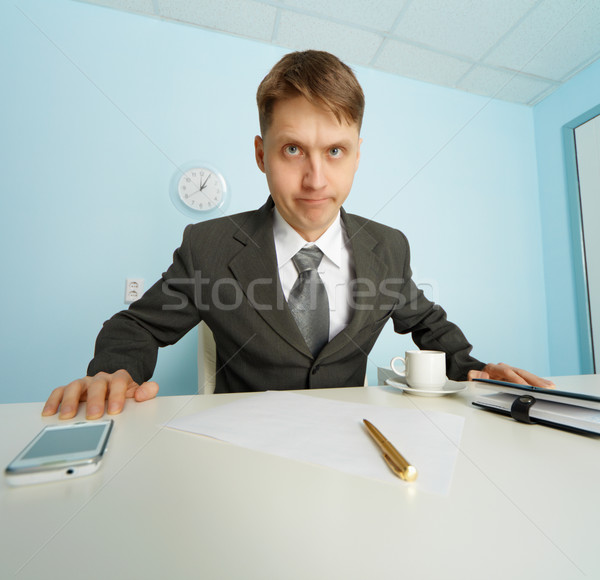 Angry boss looks at slave Stock photo © pzaxe