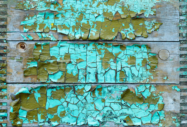 Board with peeling paint Stock photo © pzaxe