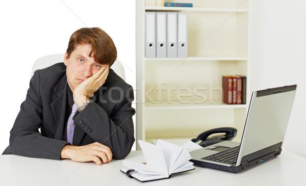 Man niets werk kantoor jonge man computer Stockfoto © pzaxe