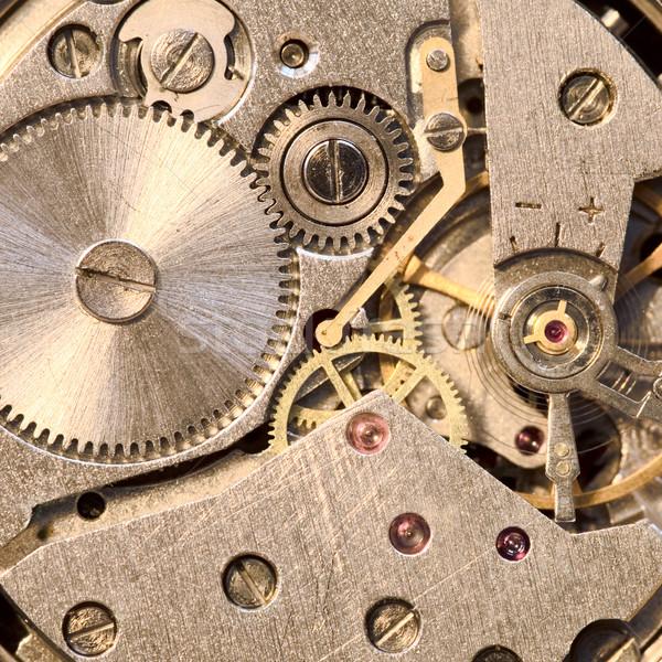 Stock fotó: Mechanizmus · óra · fotó · óra · technológia · idő