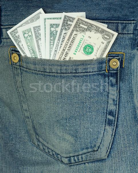 Dollar Jeans Batch Geld grünen Stock foto © pzaxe