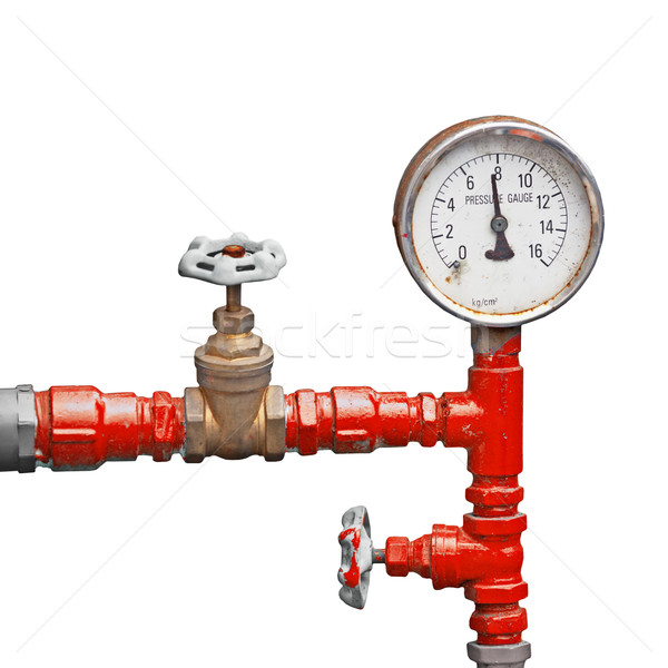 Old pipes and valves - high pressure supply Stock photo © pzaxe