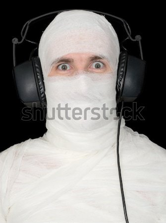 Completely bandaged man with gun - suicide Stock photo © pzaxe