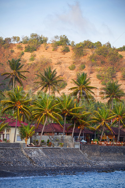 Stock photo: Seawall Protecting Candidasa Town on the Island of Bali, Indones