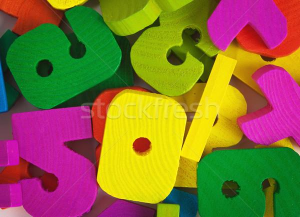 Zabawki malowany niebieski retro Zdjęcia stock © pzaxe