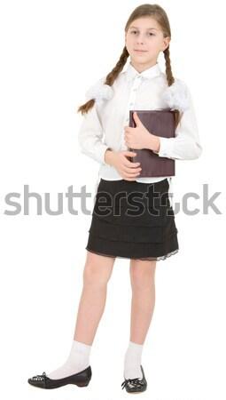 Schoolgirl and book Stock photo © pzaxe