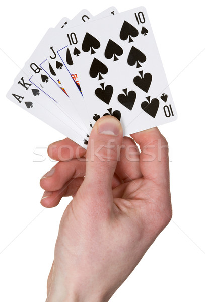 Playing card on hand Stock photo © pzaxe