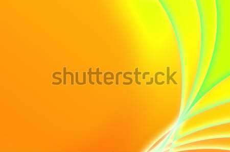 Abstract fantastic orange and green background Stock photo © pzaxe