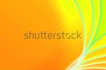 Streszczenie fantastyczny pomarańczowy zielone tekstury świetle Zdjęcia stock © pzaxe