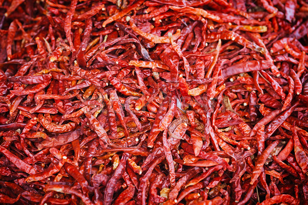 Hot red pepper background Stock photo © pzaxe