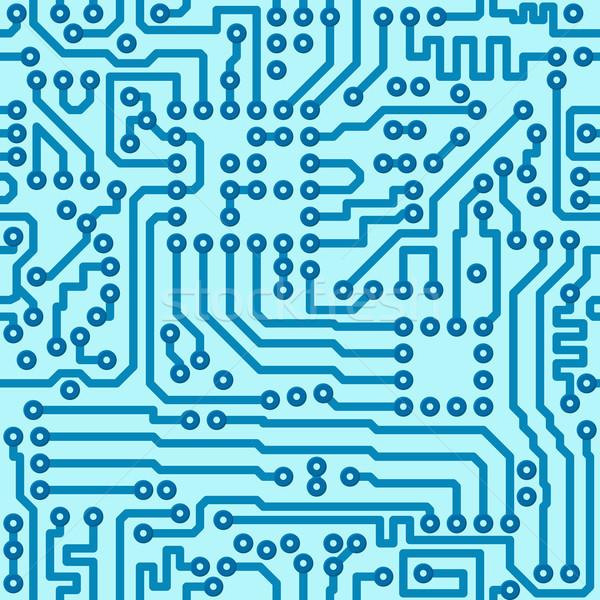 Electronic digital circuit board - seamless vector pattern Stock photo © pzaxe