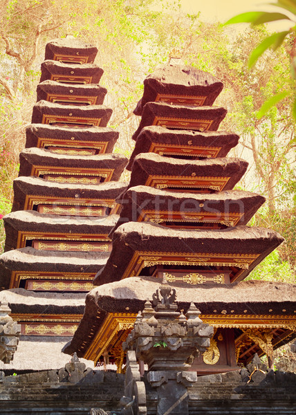 Two pagodas in the temple complex. Indonesia, Bali island Stock photo © pzaxe