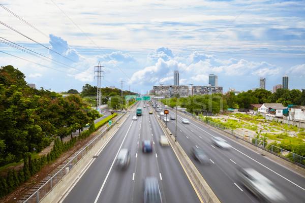 Aktif trafik kentsel karayolu karayolları gökyüzü Stok fotoğraf © pzaxe