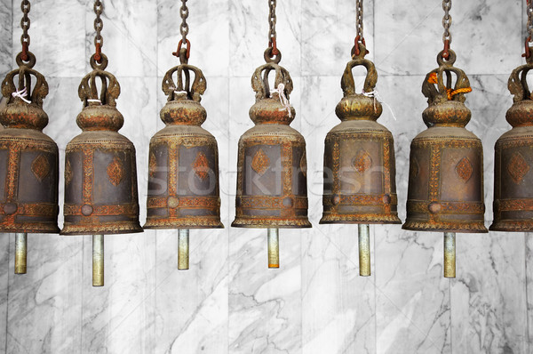 Bells in a Buddhist temple Stock photo © pzaxe