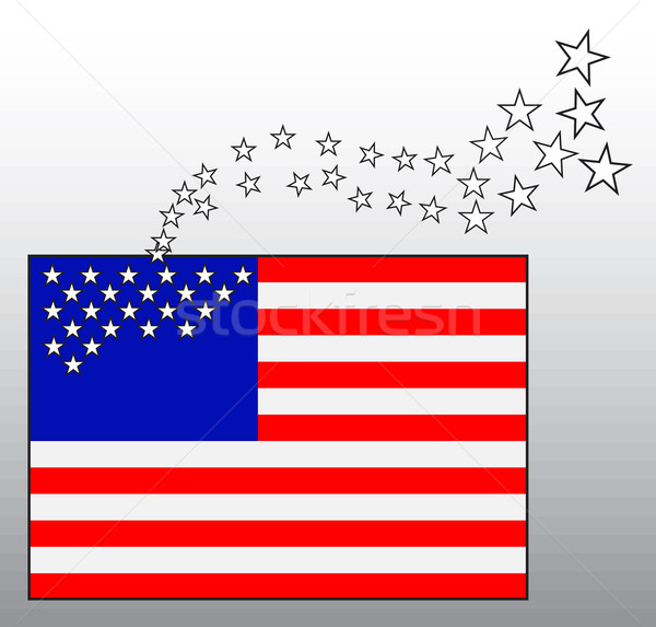 Conceptual image of American flag with departing stars Stock photo © pzaxe