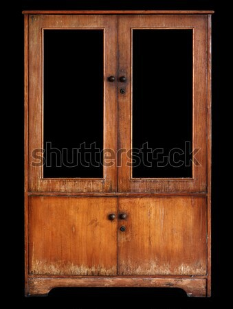 Old cupboard on black background Stock photo © pzaxe